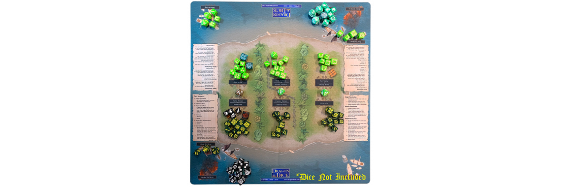Dragon Dice Two-Player Playmat